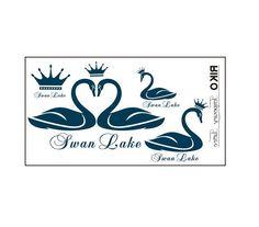 4 Pcs Crown Swan Lake Love Tattoo Stickers - Tattoos - Body art Guess You Like It