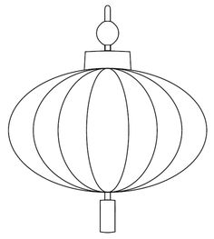 Lantern coloring page or object lesson pic for light for Chinese new year lantern template printable