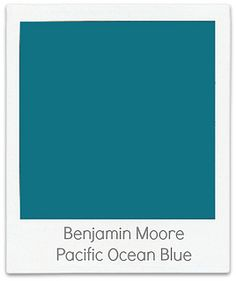 Front door? Ben-Moore-Pacific-Ocean-Blue http://creategirl.blogspot.com/search/label/color%20time