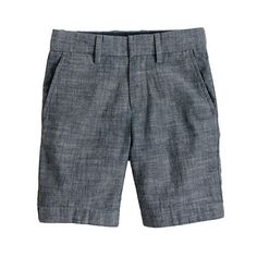 J.Crew Boys' club short in grey chambray