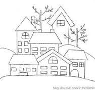 applique pattern houses - Google Search