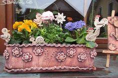 Nabízím na objednávku keramické truhlíky, cena za - obrázek číslo 1