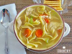 This is my favorite shortcut Chicken Noodle Soup! It has all the homemade flavor I love but it doesn't take long to prepare.
