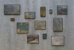Markus Schinwald, Skies, 2012, oil on canvassourcevia salonduthe and la-belle-epoche