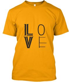 Love Simple Gold áo T-Shirt Front