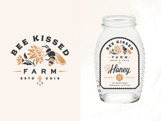 Bee Kissed Farms flowers bees honey packaging label small business farm logo branding The post Bee Kissed Farms flowers bees honey packaging label small business farm logo bra& appeared first on Design. Logo Branding, Graphic Design Branding, Label Design, Identity Design, Brand Identity, Corporate Branding, Corporate Design, Visual Identity, Honey Packaging