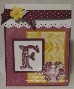 "Stamp & Scrap with Frenchie: Good Bye ""Vintage Vogue"" by Stampin' Up! ~ I love this!!!!"
