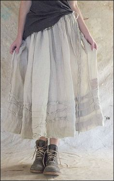 Helene Skirt 063-Oat Straw