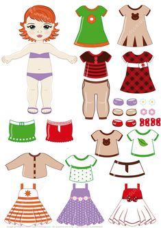 Red Headed Girl Child with Clothing Set | Super Coloring