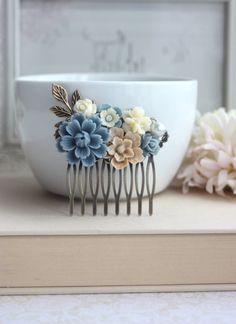 Flores para o cabelo | Simplesmente Branco