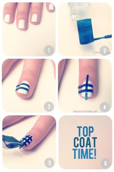 Nagel-Tutorials: Scotch Tape verwenden #nagel #nails #band #tape #scotch #nagel #nail #weiss #white #schnitt #cut #kunst #arts #golden #post #blau #blue #abspielen #play #warten #wait #prufen #check #rot #red #nagelrot #nailsred