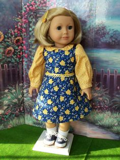 American Girl Jumper Dress / Clothes for American by Farmcookies, $42.00