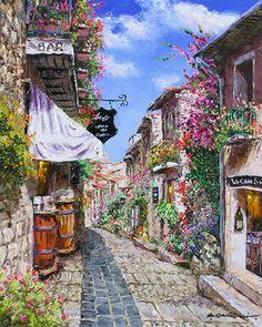 """SAM PARK Original Oil Canvas Hand Signed """"ANTIBE""""COA !!!@@@@¡¡¡¡....http://www.pinterest.com/elianecarneiro/paisagens-3/"""