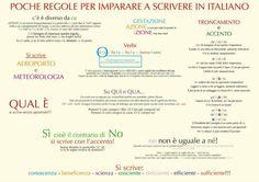 Un po' di regole da non dimenticare per scrivere bene in italiano!
