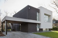 Eigentijds kubisme in Sint-Denijs-Westrem   Dewaele Houtskeletbouw