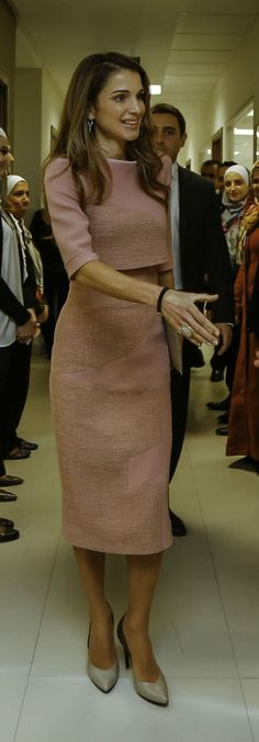 Queen Rania visits the Jordan River Foundation. nov 2014