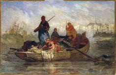 Jean M. Mercier (1788-1874)-Μεσολογγιτες πρόσφυγες, Refugees from Missolongi, about 1830