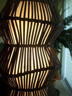 Bamboo lamp.