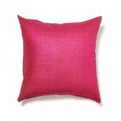 Varanasi Amaranth Raw Silk Pillow NY Interior Designer Jared Sherman Epps jaredshermanepps.com