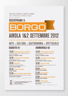 Riscopriamo Il Borgo by Giuseppe Fierro, via Behance