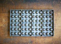 Vintage Chocolate Mold  Industrial Steel  Bon Bon  by susantique