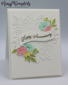 Stampin' Up! Always In My Heart Anniversary Card for the Inkin' Krew Blog Hop – Stamp With Amy K Wedding Anniversary Cards, Wedding Cards, Wedding Album, Valentine Love Cards, Valentines, Some Cards, 21 Cards, Cards Diy, Card Making Tutorials