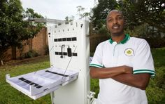 This solar-powered mobile kiosk charges cell phones & connects communities.