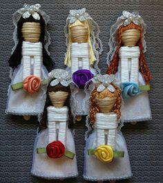 Wedding toothpick dolls