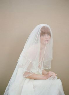 Decorate Your #Wedding #Hairstyle with a Handmade #Veil. To see more wedding trends: www.modwedding.com