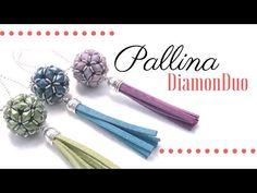 Come fare una pallina con perline Diamonduo - Schema con istruzioni - YouTube
