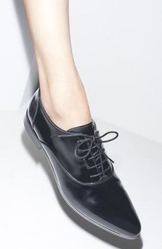 Boyish Oxfords. Yes.