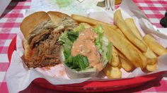 Pulled Pork Sandwich (I've already half) at Bodie Mike's BBQ in Lee Vining, CA