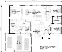 The floor plan for The Clemont, Plan 2043 - 2015 Parade Home Cool Rooms, Great Rooms, Parade Of Homes, Cool Landscapes, Best Interior Design, Square Feet, Laundry Room, New Homes, Floor Plans