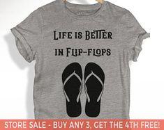 Life is Better in Flip-Flops T-shirt, Unisex Crewneck T-shirt, Graphic Tee, Women's Racerback Tank, Graphic T-shirt