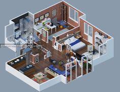Teknolojinin Son Noktası 3D Tasarımlı Ev Planları (15)
