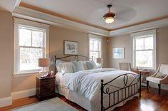 Benjamin Moore Shaker Beige Bedroom | Lejla Eden, Designer - bedrooms - Benjamin Moore - Shaker Beige HC-45 ...