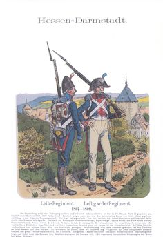 Vol 14 - Pl 15 - Hessen-Darmstadt. Landgrave, Holy Roman Empire, Napoleonic Wars, First World, Troops, World War, Old Things, German, Army