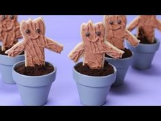 Guardians of the Galaxy Groot Cookies |  another easy tutorial that intersects superheros and baking.  These sugar cookies are made from a store bought mix but you can certainly use your favorite recipe for homemade sugar cookies.  Groot, a tree-like creature, is shaped using a classic gingerbread man cookie cutter.