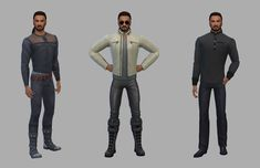 Netz-à-porter – outfits ready to wear for your sims (no CC required) - Page 9 Sims House Design, Sims Four, Sims 4 Clothing, Clothing Ideas, Ready To Wear, Leather Pants, How To Wear, Jackets, Outfits