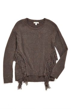 Free shipping and returns on Tucker + Tate Fringe Sweater (Big Girls) at Nordstrom.com. A cozy knit pullover speckled with pops of colorful yarn gets an on-trend update with swingy fringe accenting the sides.