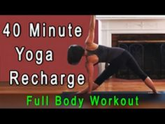 Yoga flow daily recharge total body workout (40 minutes) from Michelle Goldstein of Heart Alchemy Yoga