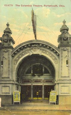The Columbia Theater opened November 21, 1910. It had 328 seats, but following the 1913 flood, 170 new were added. The Columbia completed an expansion in 1928 which brought the seating total to 1,000. During this closing, the Columbia used the Sun Theater across the street. Sound was installed in 1929. Restoration on the theater began in  2004, it opened in 2006, but the theater was destroyed by fire in 2007. In 2011, the building was rebuilt/restored as an entertainment venue.