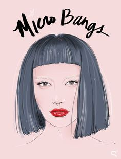 Vintage Hairstyles With Bangs micro Bang Gangs: How the Coolest Girls Wear Bangs - Sisterhood, style and really great hair. Long Bob Hairstyles, Vintage Hairstyles, Hairstyles With Bangs, Bang Bang, Love Hair, Great Hair, Micro Pony, Short Bangs, Edgy Bangs