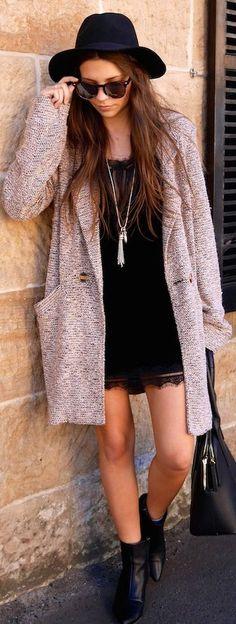 Somedays Lovin Purple Tweed Oversize Coat