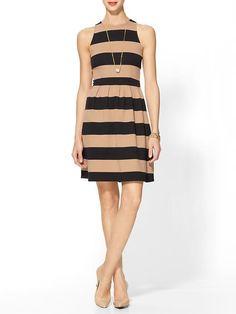 Striped Ponte Scuba Dress $69