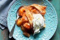 Peach cobbler, dolce di pesche