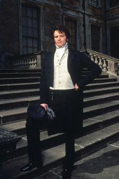 Colin Firth, Mr. Darcy - Pride and Prejudice directed by Simon Langton (TV Mini-Series, BBC, 1995) #janeausten