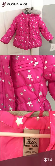 Zero Xposur heavyweight puffer jacket- 18 mo EUC #64.   EUC- Only worn once or twice.  We don't use puffy coats in the car seat, so this was only worn in backyard playing in snow two times at most.  Like new.  From SF/PF home.  **Check out my closet.  Lots of baby girl things.  10% off bundles of two or more** ZeroXposur Jackets & Coats Puffers