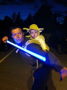 Train you must. Jedi father & Yoda son.