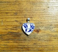 Willow Pattern Sterling Silver Heart